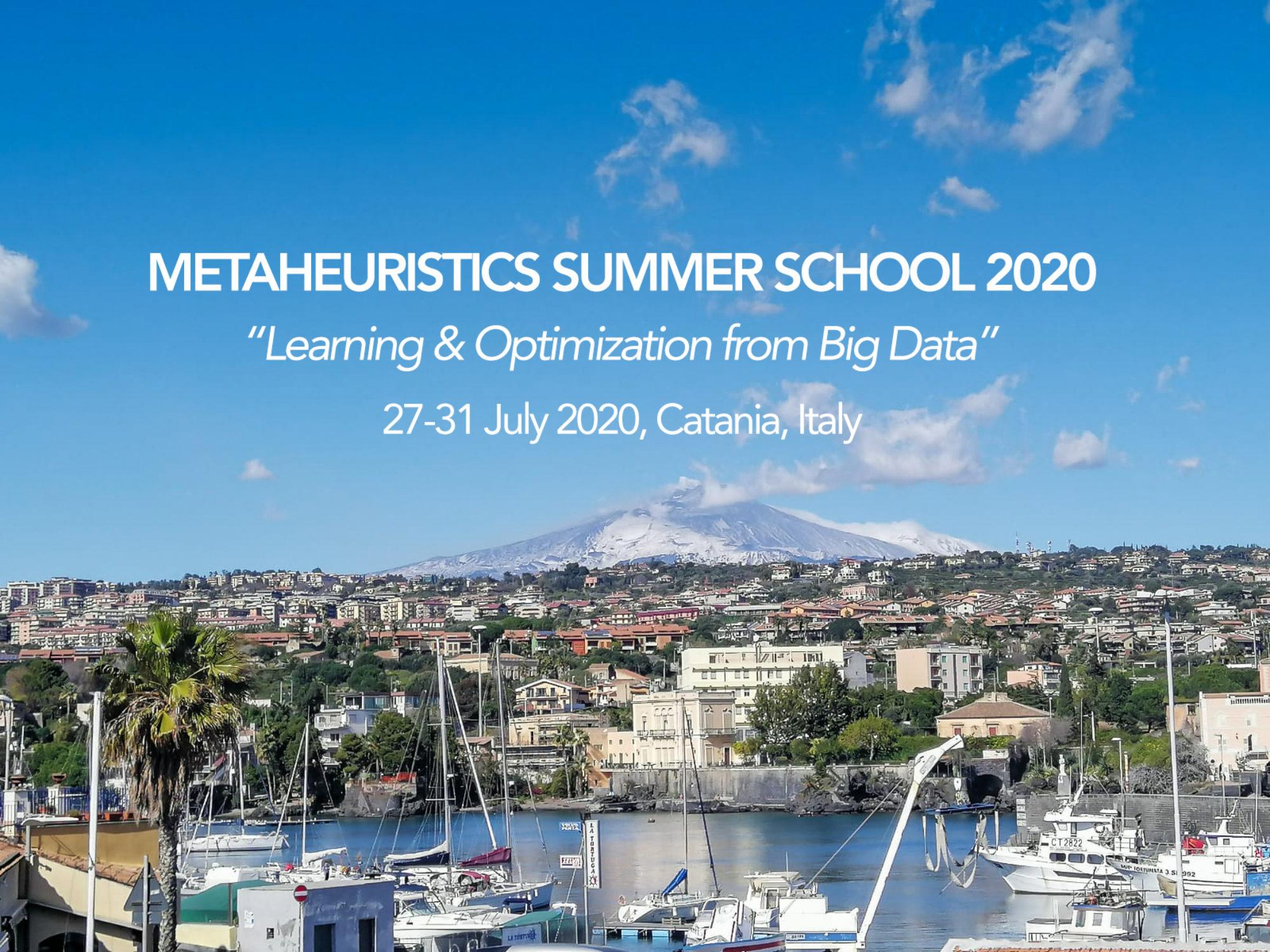 Summer School 2020.Metaheuristics Summer School 2020 Learning And